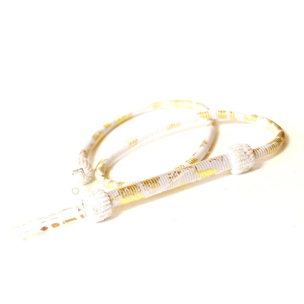 Díszes szívócső | Fehér | 185 cm