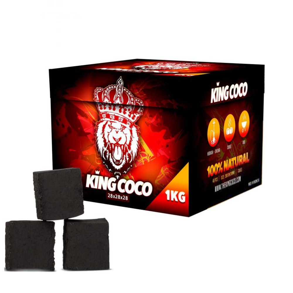 King Coco vizipipa szén XL   1kg