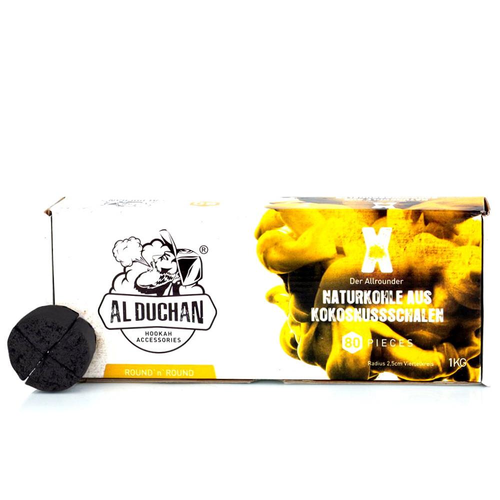 Al Duchan vízipipa szén   X Round   1 kg